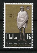 MALTA 1969 BIRTH CENTENARY OF MAHATMA GANDHI SG415  MNH