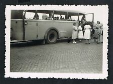 FOTO vintage PHOTO, Bus, Oldtimer, Omnibus, Autobus, car, voiture, Frauen, /105