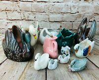 Vintage Lot of 12 Swans Home Decor Birds Made In Japan & USA