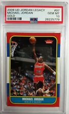 2009 UD Gold Legacy Michael Jordan 1986 Fleer Retro Style #97, PSA 10, Pop 22!