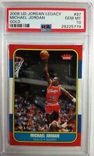 2009 UD Gold Legacy Michael Jordan 86 Fleer Rookie Replica #97, PSA 10, Pop 16!