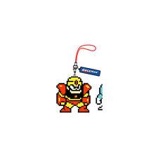 1 Dr Megaman Dot Strap Vol Light Rubber Cell Phone Strap Licensed NEW