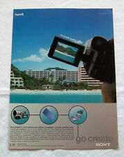 A394-Advertising Pubblicità-2000-SONY DIGITAL 8 - VIDEOCAMERE SONY