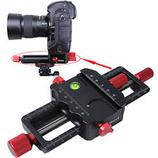 Macro Focusing Rail Slider Close-up Shooting Camera Holder for Tripod Ballhead