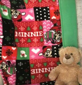 Minnie Mouse 28 x 33 Christmas Blanket Fleece Disney Baby Holiday Gift Winter