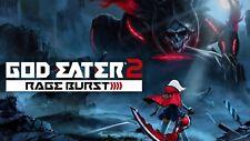 God Eater 2 Rage Burst PC Steam Code Key NEW Download Fast Region Free