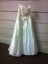 Ivory beaded A-Line Lightweight Designer Gown - Size 12