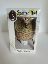 SCENTSATIONALS Spotted Owl Ceramic Plug In Wax Fragrance Warmer & Light