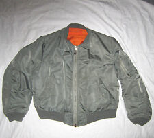 ORIGINALE US-Air Force mil-j-8279e Giacca da Aviatore ma-1 Size Medium Bomber Giubbotto 1973