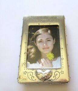 Brighton Reach For the Stars Picture Frame- Rectangular- silver color- heart