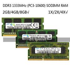 Samsung 2GB/4GB/8GB DDR3 PC3-10600S 1333MHz 204pin Portátil Sodimm Memoria Ram Lote