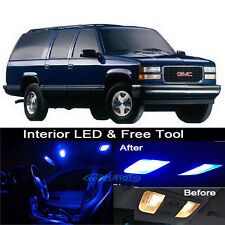16x Blue LED Lights Interior Package kit for 1995-1999 Chevy/GMC Suburban+Tool