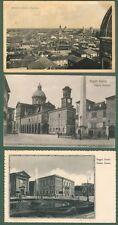 REGGIO EMILIA. 3 cartoline d'epoca viaggiate tra il 1918 e il 1938.