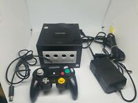 Nintendo GameCube Black Console Offical OEM Controller & Cords DOL-001