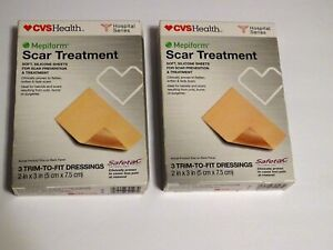 2x Scar Treatment by Mepiform 3 Trim-to-fit Dressings 2 in x 3 in Exp 4/20, 9/21