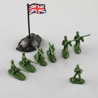 100pcs Military Plastic Toy Soldiers Army Men Figures in 12 Poses w/Flags