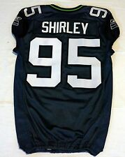 #95 Shirley of Seattle Seahawks NFL Locker Room Game Issued Jersey