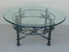 VINTAGE WHIMSICAL WROUGHT IRON COFFEE OR OCCASIONAL TABLE WITH MONKEYS