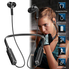 Headset Wireless Sport Stereo Headphones Earphone Earbuds w/Mic For Samsung S21