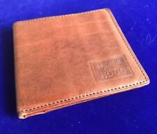Vintage George Hogg 1855 Tan Leather Bifold ID Credit Card Holder Wallet A3
