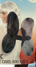 Smiffys Black Fairy Wings with Glitter Trim and Halo