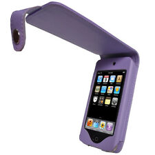 Purple PU Leather Case for Apple iPod Touch 2nd 3rd Gen 2G 3G iTouch Cover