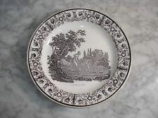 """Assiette Ancienne Parlante faïence fine  GIEN  """"Le premier pas""""  1830"""