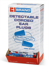 200 Pairs BBrand Corded Detectable Soft Comfortable Foam Ear Plugs SNR 37 dB New