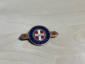 Unidentified Vintage Authorised Service Camp Enamel Badge by Gaunt