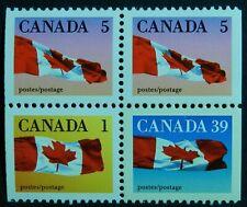 Canada 1990 Block 1c, 5c, 39c  Mint no hinge