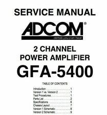 ADCOM GFA-5400, GFA-5500 Schematic Diagram Service Manual Schaltplan Schematique