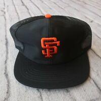 Vintage New San Francisco Giants Mesh Trucker Snapback Hat Sports Specialties