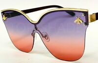 Fashion Cat Eye Designer Oceanic Color Shades Bug Bee New Big Women's Sunglasses