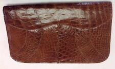 Vintage Alligator Clutch Purse Handbag Luiz Ertler 1950's 60's Chocolate NICE!