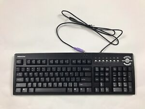Genuine Medion 5207 Black PS/2 Wired Standard Computer Keyboard Only
