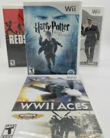 Nintendo Wii Lot of 4 Games: WWII Aces, Redsteel, 007 Quantum of Solace, Harry P