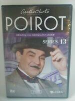 Agatha Christies Poirot: Series 13 (DVD, 2014, 3-Disc Set) free shipping