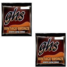 GHS Guitar Strings 2-Pack Acoustic Extra LIght 11-50 Vintage Bronze