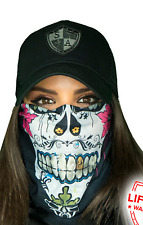 SA SUGAR MAMA Face Shield Sun Mask Balaclava Head band Beanie Bandana do rag
