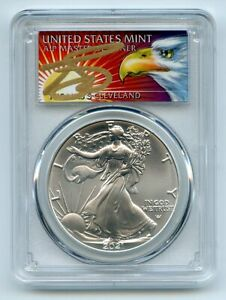 2021 $1 Silver Eagle 1oz Dollar Type 2 PCGS MS70 First Strike Cleveland Eagle