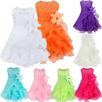 Flower Girl Princess Dress Kids Baby Birthday Party Wedding Pageant Formal Tutu