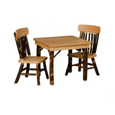 Rustic Hickory Children's Table & Chairs - Amish Made in USA
