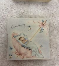 Vintage Birth announcements - 11 cards with 11 envelopes