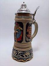 Beer stein Frolicher Wanderer Musical Mug Pewter Lid