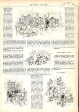 Espagne Don Pablo de Ségovie dessin Daniel Vierge/ Epitres d'Horace GRAVURE 1879