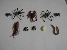Fake Fly 3 Types of  Spider cockroach maggot worm scorpion Centipede Joke insect