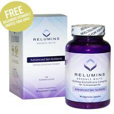 ❤ relumins Advance Blanco 1650mg glutatión complejo con libre relumins VIT C-venta $
