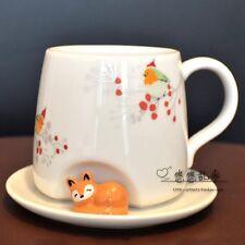 New Starbucks China 2017 Christmas Sleepy Fox Mug Set 12oz