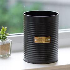 Typhoon Otto Black & Gold Kitchen Utensil Storage Jar Pot Holder Cutlery Caddy