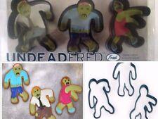 Walking ZOMBIE Halloween COOKIE CUTTERS 3 pc. UnDead Fred NEW Dead Gingerbread